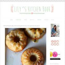 Petits bundt cake, fruit de la passion & citron-graines de pavot