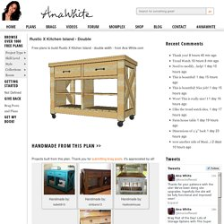 Build a Rustic X Kitchen Island - Double