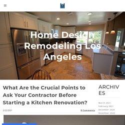 kitchen renovation contractors in Los Angeles - MY SITE