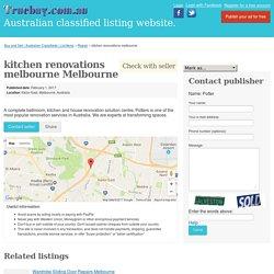 kitchen renovations melbourne Melbourne