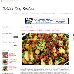 ** Roasted Potatoes with Red Peppers, Garlic, and Bacon
