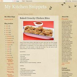 Baked Crunchy Chicken Bites