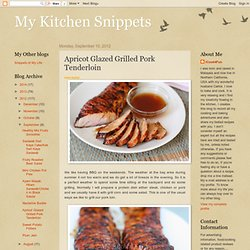 Apricot Glazed Grilled Pork Tenderloin