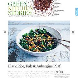 Black Rice, Kale & Aubergine Pilaf