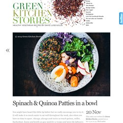 Spinach & Quinoa Patties in a bowl