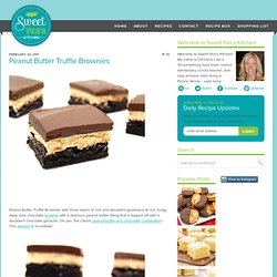 Peanut Butter Truffle Brownies | Sweet Pea's Kitchen