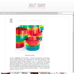 Unfettered F-U-N . . . Rainbow Jelly Shooter!
