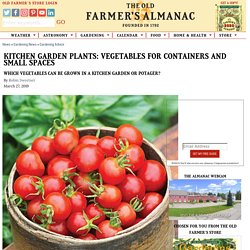 Kitchen Garden Plants: Vegetables for Containers and Small Spaces
