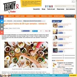 Kitchenette : Manger pour moins de 20 € par semaine : relevez le défi - L'Etudiant Trendy