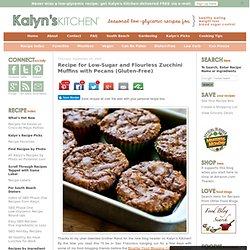 Recipe for Low-Sugar and Flourless Zucchini Muffins with Pecans (Gluten-Free)