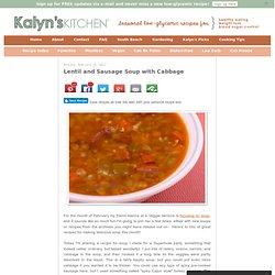 Lentil sausage cabbage soup