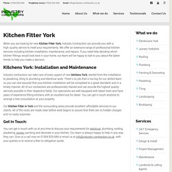 Kitchens York, Kitchen Fitter York