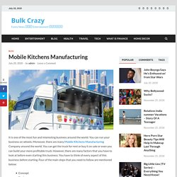 Mobile Kitchens Manufacturing Services In Dubai