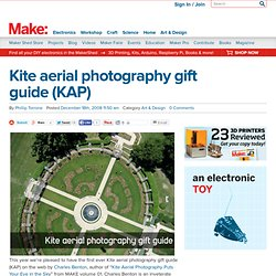 MAKE: Blog: Kite aerial photography gift guide (KAP)