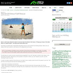 Kitesurfing Progression: The Kitesurf Self Rescue