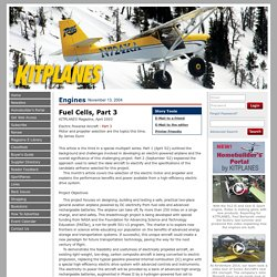 The Independent Voice for Homebuilt Aviation - Fuel Cells, Part 3 - KITPLANES Magazine Article