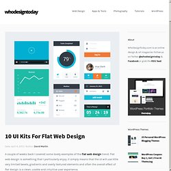 UI Kits For Flat Web Design | Who Design Today