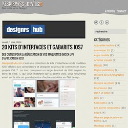 20 kits d'interfaces et gabarits iOS7