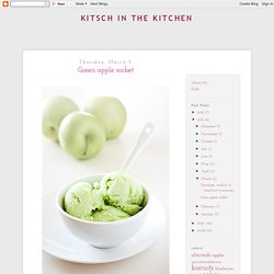 Green apple sorbet