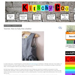 Kitschy Coo: Tutorial: How to fully line a bodice