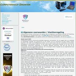 Algemene voorwaarden / klachtenregeling