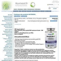 Klamath RW pur (AFA) - NUTRIXEAL- 60 ou 120 gélules végétales 560 mg