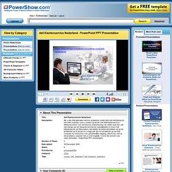 dell Klantenservice Nederland PowerPoint presentation