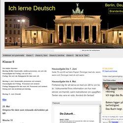 Klasse 9 - Ich lerne Deutsch