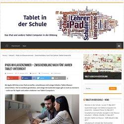 iPads im Klassenzimmer – Zwischenbilanz nach fünf Jahren Tablet-Unterricht – Tablet in der Schule