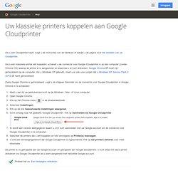Connexió d'impressores clàssiques amb Google Cloud Print - Ajuda de Cloud Print