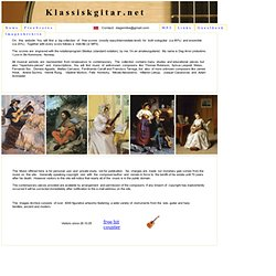 Klassiskgitar Index