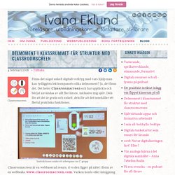 Delmoment i klassrummet får struktur med classroomscreen