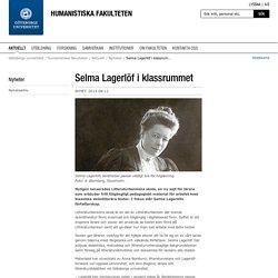 Selma Lagerlöf i klassrummet - Göteborgs universitet