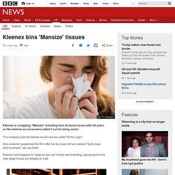 Kleenex bins 'Mansize' tissues