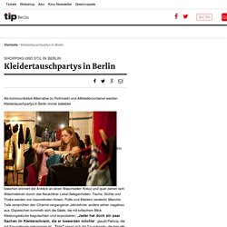 Kleidertauschpartys in Berlin - tip berlin