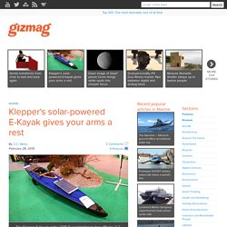 Klepper's solar-powered E-Kayak gives your arms a rest - Images
