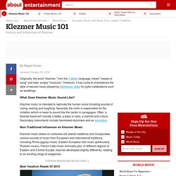 Klezmer Music 101 - Jewish Traditions