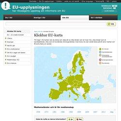 Klickbar EU-karta - EU-upplysningen vid Sveriges riksdag