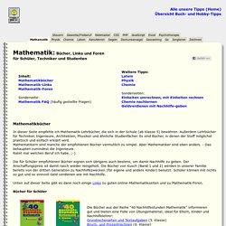 Mathematik: Bücher und Links