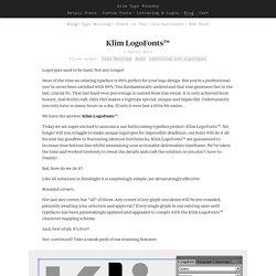 Klim Type Foundry - Klim LogoFonts™
