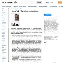Klima n° 02 - Les presses du réel (livre)