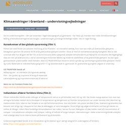 Klimaændringer i Grønland - undervisningvejledninger