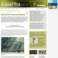 Deutschland ist Stromexport-Meister - Klimaretter.info
