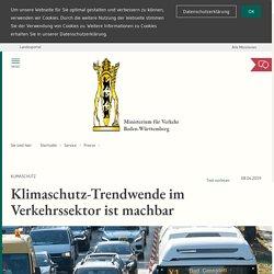 Klimaschutz-Trendwende im Verkehrssektor ist machbar: Ministerium für Verkehr Baden-Württemberg