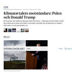 Klimatavtalets motståndare: Polen och Donald Trump