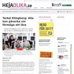 Torkel Klingberg: Alla kan påverka sin förmåga att lära
