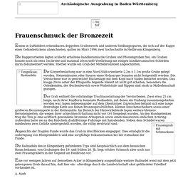 Heilbronn-Klingenberg: Frauenschmuck der Bronzezeit