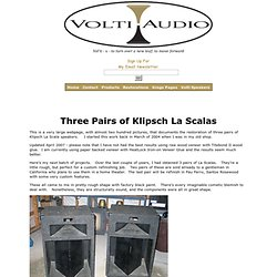 Klipsch Khorn V-Trac Upgrades - Restoration - La Scalas - Volti Audio