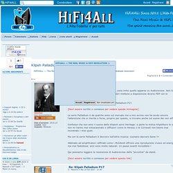 Klipsh Palladium P17, in esclusiva solo su HIFI4All