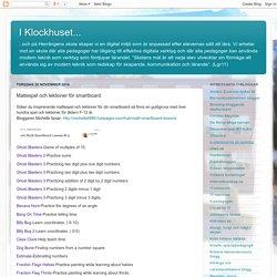 Mattespel och lektioner för smartboard